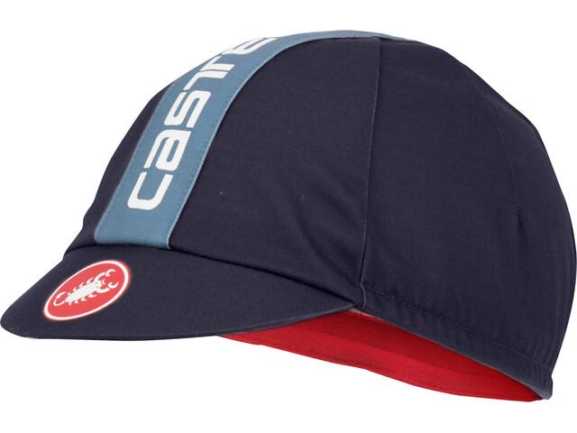 Castelli Retro 3 Cap dark/steel blue